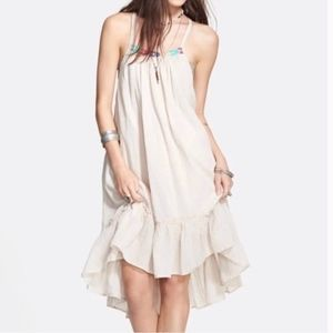 Free People Embroidered High Low Peasant Dress